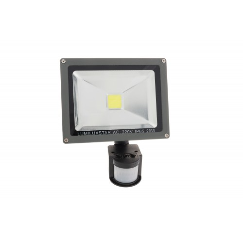 LED FLOODLIGHT PIR 20W